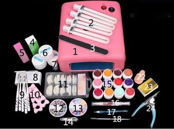 New Pro Nail Art Tools polish Set UV Kit nail gel nail tools 36W Timer Dryer Lamp Decorations Kit manicure acrylic nail kit UV