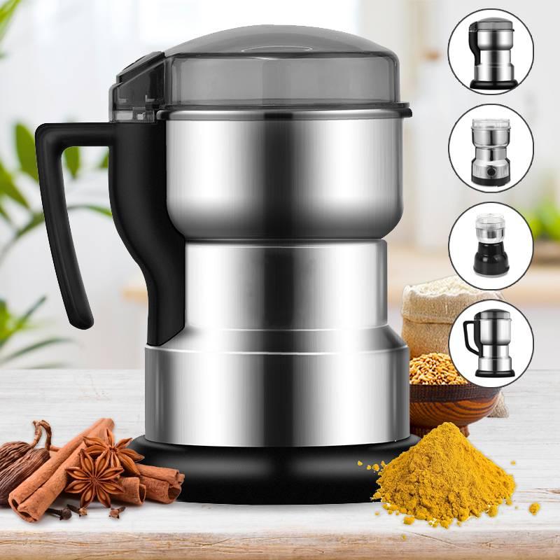 Электрическая кофемолка, многофункциональный домашний измельчитель для зерен, злаков, орехов, бобов, специй