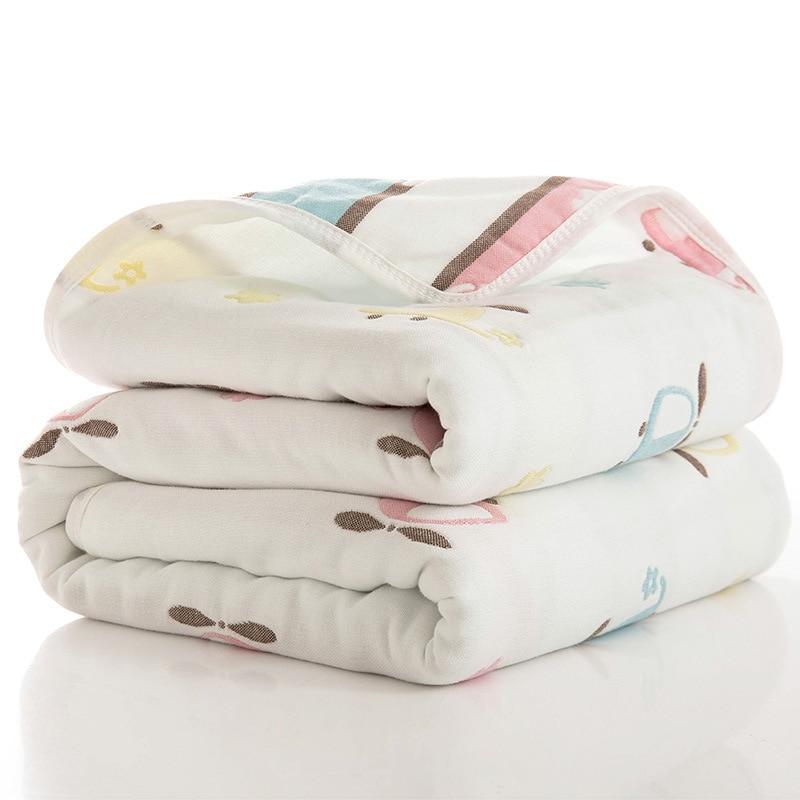 Clearance SaleComforter Blankets Bath-Towel Gauze Baby Quilt Newborn Children Size-80--80 Size-80--80