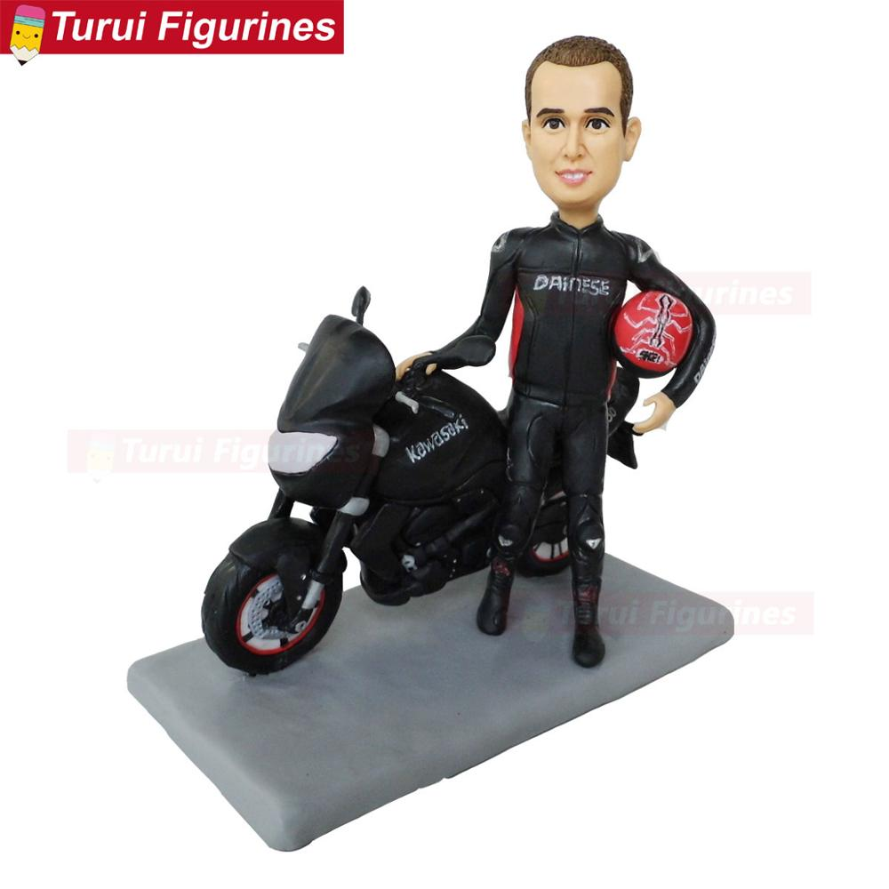 Prime Motorcycle Cake Toppers For Birthday Cakes Bobblehead From Images Funny Birthday Cards Online Alyptdamsfinfo