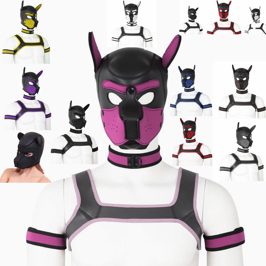 Girls Cosplay  Puppy Collar Role Play Rubber Adult Latex Dog Props Neck Collar