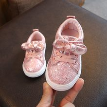 wedding children baby shoes girls sneakers Baby Girls Boys Bling Sequins princess shoes Bowknot Crystal Sport Sneakers Shoes #C(China)