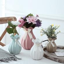Ceramic vase home decoration Lotus leaf vase Flower Vase creative gift Room Study tabletop flower vase for home Wedding Decor