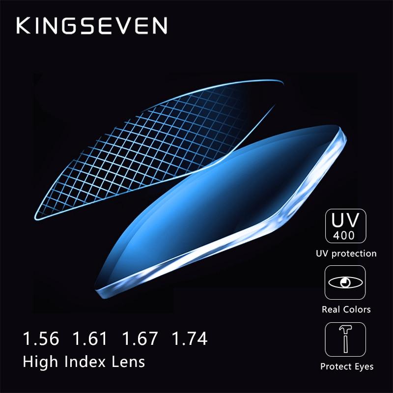 KINGSEVEN Anti Blue Blocking 1.56 1.61 1.67 Prescription CR-39 Resin Aspheric Glasses Lenses Myopia Hyperopia Presbyopia Lens
