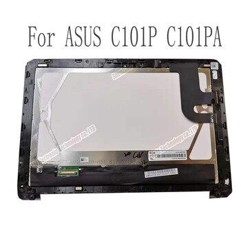 Pantalla lcd genuina para tableta de 10,1 pulgadas con montaje de digitalizador con pantalla táctil piezas de repuesto para ASUS C101p C101PA