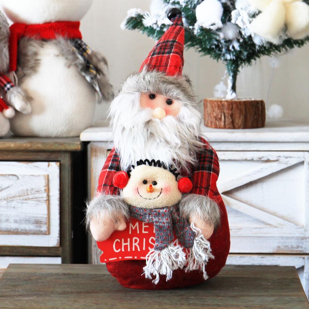 Peluche 46cm père noël grand tissu poupée poupée cadeau de noël - 3