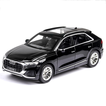 1:24 Alloy Pull Back Car Model Diecast Metal Toy Vehicles Q8 Sound Light Car Doors Open For Kids Birthday Christmas Gifts Toys 1 36 benz e63 amg alloy pull back car model diecast metal toy vehicles 2 open doors for kids gift free shipping