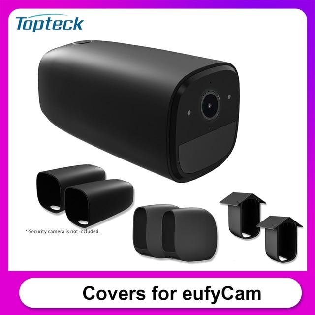 2PCSซิลิโคนป้องกันสำหรับEufyCam Eufy 2C Eufy 2 Eufy E Anti Scratchป้องกันกล้องฝาครอบให้ความปลอดภัยกล้อง