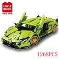 Высокотехнологичная серия MOC, Суперскоростной спортивный автомобиль, Сборная модель, строительный блок, детская сборка, развивающие игрушк...