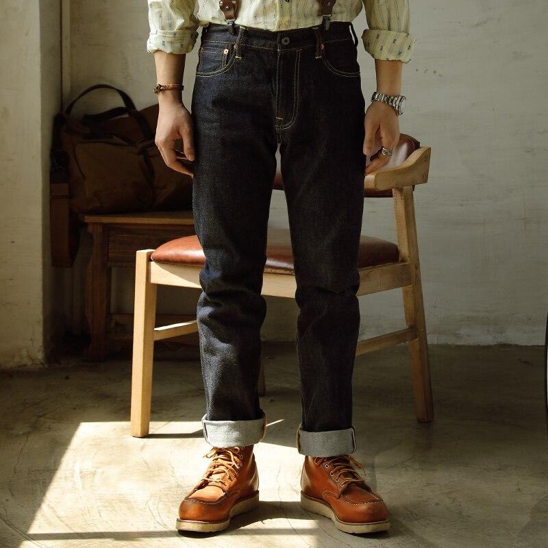 Red Tornado 14oz Regular Fit Jeans One Wash Selvedge Denim Pants For Men