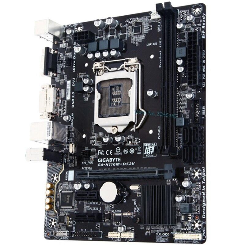 [해외] 기가 바이트 GA H110M DS2V 오리지널 마더 보드 H110M DS2V 소켓 LGA 1151 DDR4 - 기가 바이트 GA H110M DS2V