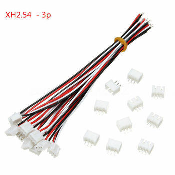 10set 3-Pin 150mm Mini Micro JST XH2.54mm Socket Connector Plug With Wire Cable цена 2017