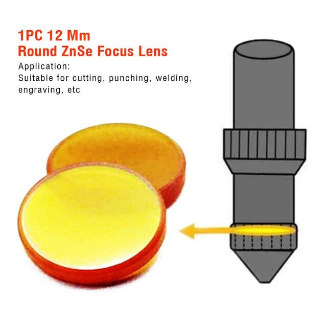 12 Mm système optique Machine de découpe de soudage industrie du travail des métaux revêtement rond ZnSe lentille résistant à la chaleur CO2 graveur
