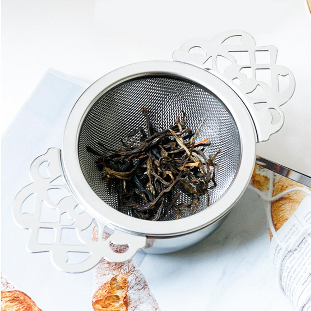 Tea Strainer Steeper Stainless Steel Fine Mesh Tea Infuser Filter For Brewing Steeping Loose Tea