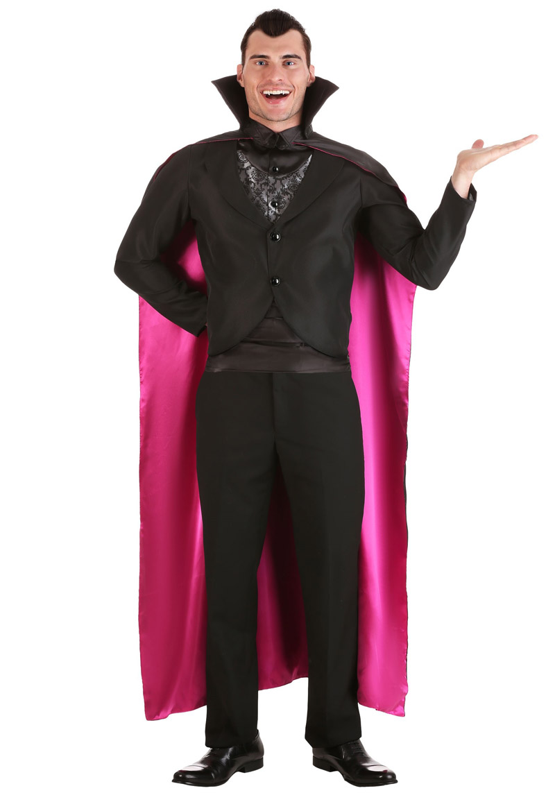 New Unisex Reversible Vampire Dracula Layer Out Cosplay Costumes Halloween Gift