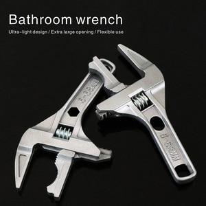 6-68mm Bathroom Wrench Large Open Mini Adjustable Short Handle Shank Aluminum Alloy Universal Spanner Water Pipe Repair Tool