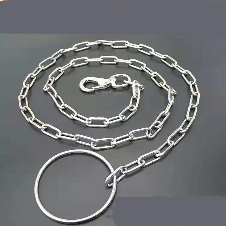 Iron Chain Hand Holding Rope Lengthened 1.8M Stainless Steel Seamless Welding German Shepherd Cane Corso Big Dog Lanyard