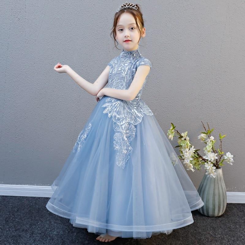 CHILDREN'S Dress Princess Dress Birthday Performance Catwalks Piano Host Chao Yang Gas Puffy Formal Dress Girls High Grade Custo