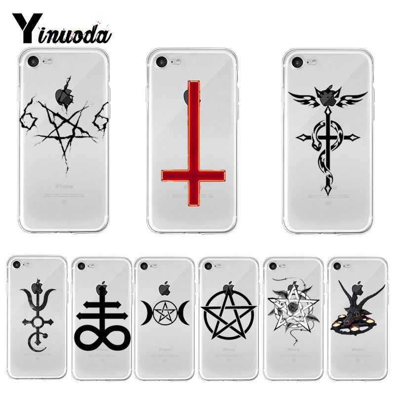 Yinuoda Pentagram Satanic Pentagram Colorful Cute Phone  case for iPhone 8 7 6 6S Plus X XS max 10 5 5S SE XR Coque Shell