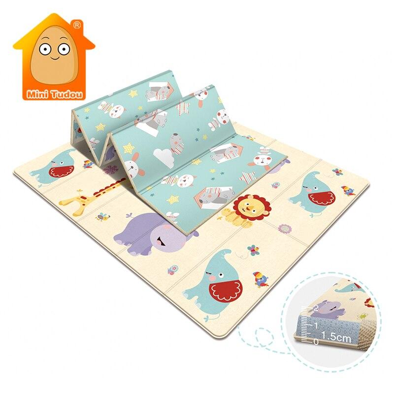 아기 장난감 놀이 매트 교육 깔개 Playmat 개발 매트 유아 방 크롤링 패드 접는 매트 부드러운 카펫 장난감 어린이 선물