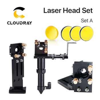 Cloudray CO2 Laser Head Set Dia.18mm FL38.1&Dia.20 FL50.8/63.5/101.6mmZnSe Focus Lens Dia.25m Mirror for Laser Engraving Machine fireray co2 laser head set kit 1pcs dia 20mm znse focus lens 3pcs dia 25m mo si mirror 25mm for laser engraving cutting machine