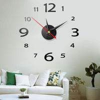 1 قطعة ثلاثية الأبعاد لتقوم بها بنفسك ساعة حائط ديكور المنزل الحديث مرآة كريستال ملصق الفن الفينيل ملصق مائي