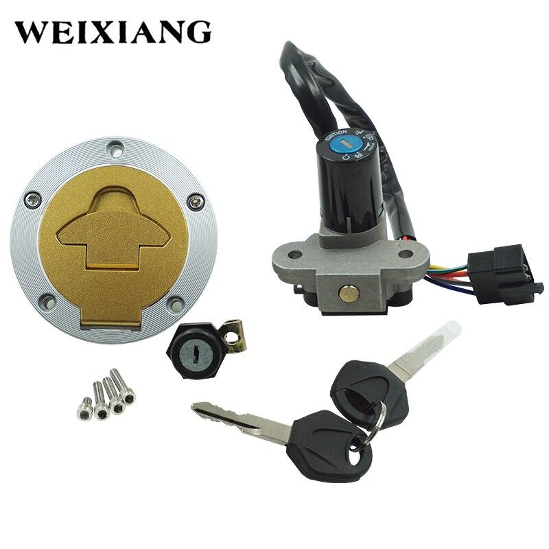 Interrupteur d'allumage de moto bouchon de gaz de carburant ensemble de clé couvercle de réservoir Kit de verrouillage de siège pour Ducati ST2 1998-2003 ST4 2000-2002 Cagiva mito125