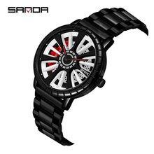 Часы наручные sanda мужские деловые брендовые Роскошные модные