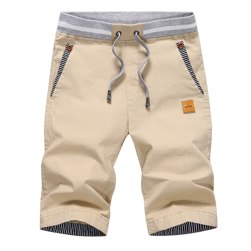 Drop Shipping 2020 Summer Casual   Shorts   Men Cotton Cargo   Shorts   Elastic Waist Drawstring Beach   Board     Shorts   M-4XL Plus size