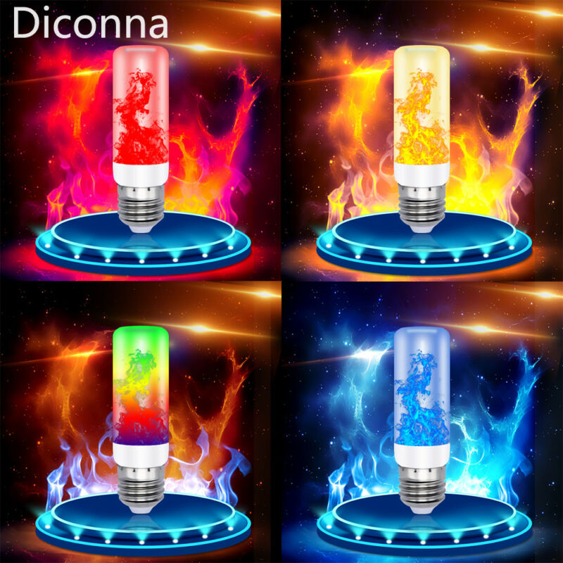 Newly Fashion Funny 3/4 Modes E27 7Color Fire LED Effect Light Bulb Flickering Flame Decors Flickering Emulation BulbS