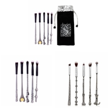 5 pcs/set Harries Magic Wands Potters Makeup Eye Shadow Brush Beauty Cosmetic Stationery Birthday Gifts For Children Figure Toys