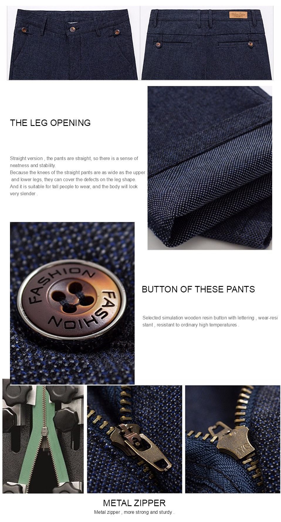 H8b8cc36bc3cc407f93606a70d0981231m HCYX Brand 2019 four season Classic High quality Men's Casual Pants Trousers Men Casual Pants Business Straight Size 38