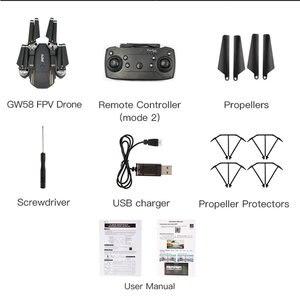 GW58 Wi-Fi Управление 4 оси Дрон 0.3MP/2MP зависания Racing беспилотный летательный аппарат зависания Racing вертолет RC беспилотный игрушки