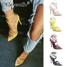 Super high heels 11cm women's pumps ankle cross-strap sandals shoes