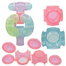 Хомяк Шестигранная туннельная фурнитура прозрачная акриловая клетка хомяк аксессуары дешевые игрушки для домашних животных маленького размера принадлежности 4/вилка
