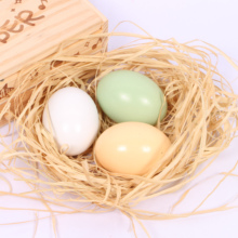 Simulation eggs DIY hand-painted teaching aid toys Kindergarten painting painted fake eggs early education toy gifts
