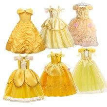 Детский костюм принцессы, платье принцессы для детей девушка красавица Платье Карнавал вечерние детская одежда для Хэллоуина, дня рождения...