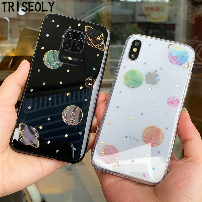 Simple Planet Soft TPU Case For Xiomi Redmi Note 9 9S 9 Pro Max Note 5 6 7 8 Pro Clear Cover For Redmi K20 K30 Pro 7A 8A 6A 5A 4