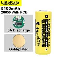 Liitokala – batterie au lithium, rechargeable, 26650, 8a, 26650A, 3.7V, ma, convient pour la protection des lampes de poche sur PCB, 1 à 10 pièces