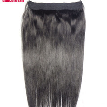 """Chocala волосы 1""""-28"""" Искусственные волосы одинаковой направленности венчик для волос волосы флип в волосах 80 г бразильские натуральные один кусок набор человеческих волос для наращивания"""