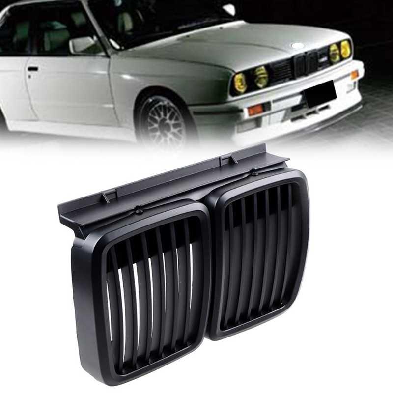 フロントグリルの交換 bmw E30 3 シリーズ M3 フロントフードバンパーグリルマットブラック 1982-1994