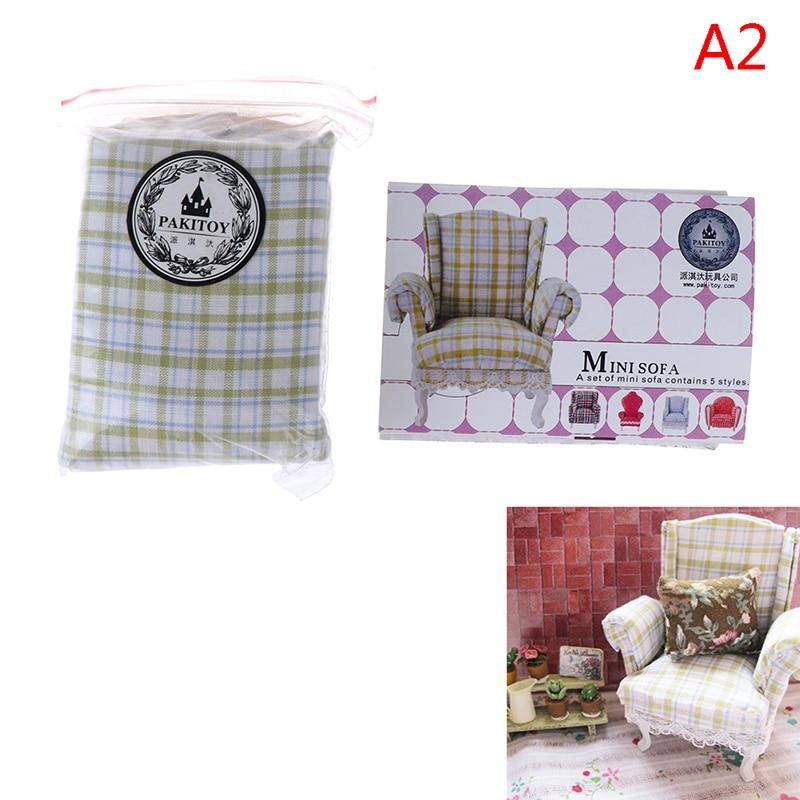 1 Набор 1:12 кукольный домик мебель стул диван с подушкой Сладкая Мебель для кукольного дома мебель игрушки подарок - Цвет: 2