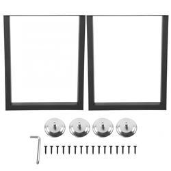 2 uds soportes de patas de mesa pata de escritorio Industrial de acero para muebles de hogar pata de escritorio de acero