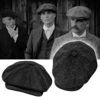 Tommy Shelly Peaky Blinder gorras estilo vendedor de periódicos gorra Octagonal de espiga Vintage hombres boinas para mujeres Gatsby Flat Hat BLM73