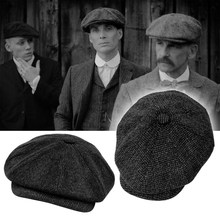 Tommy Shelby Peaky Blinders Hat Men's Newsboy Hats Vintage Herringbone Octagon Cap Women Berets Gatsby Flat Hat BLM73