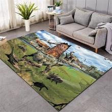 Nordic 3D Dinosaur carpet kids living room sofa bedroom kids play mat cartoon parlor large carpets hallway door mat style-5