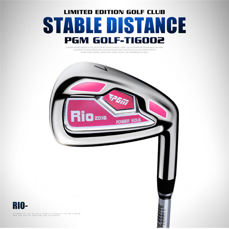 Image 2 - PGM No.7 Golf Club Women's Irons Putter Chip Silver Stainless Steel Carburizing Grinding Push Rod Chipping Training With Ball-in Golf Clubs from Sports & Entertainment