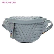 Розовый Sugao Фанни пакет груди мешок кроссбоди плеча женщины leatehr имел для талии деньги ремень 2019
