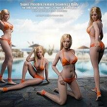 Stock 29.4cm hight 1/6 Pale /suntan TBLeague Super Flexible Female long leg Seamless Body S32A S33B for Action Figure DIY