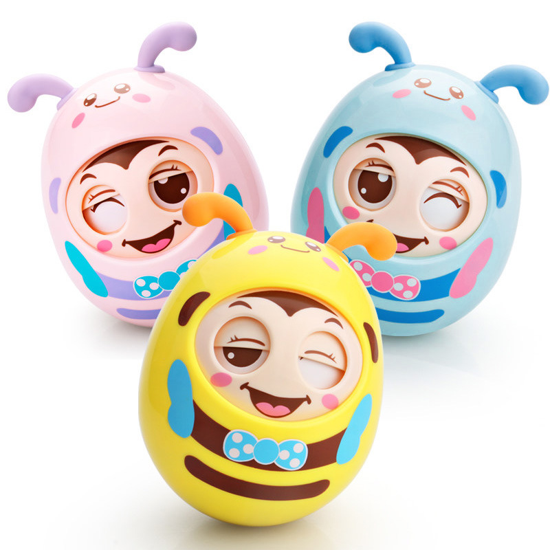 Educational Toys For Baby Early Learning Materials Children Intelligence Development Blink Eyes Tumbler Doll